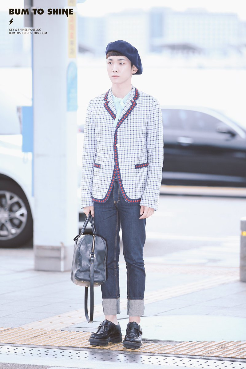 [IMG/160715] Jonghyun, Key @ Aeropuerto Incheon hacia Japón. XnVsTZug
