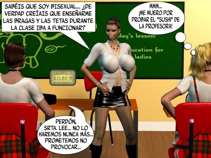 Mi profesora de francs me humedece el coo - Lesbianas
