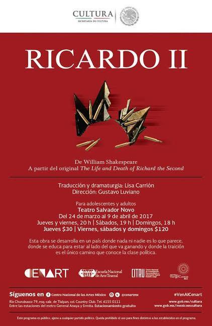 Inicia temporada Ricardo II, puesta en escena sobre el poder y la traic