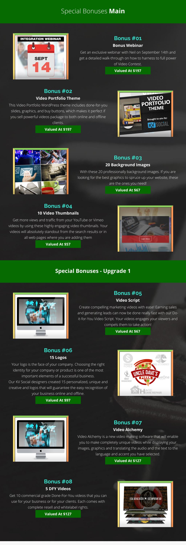 video contest bonus