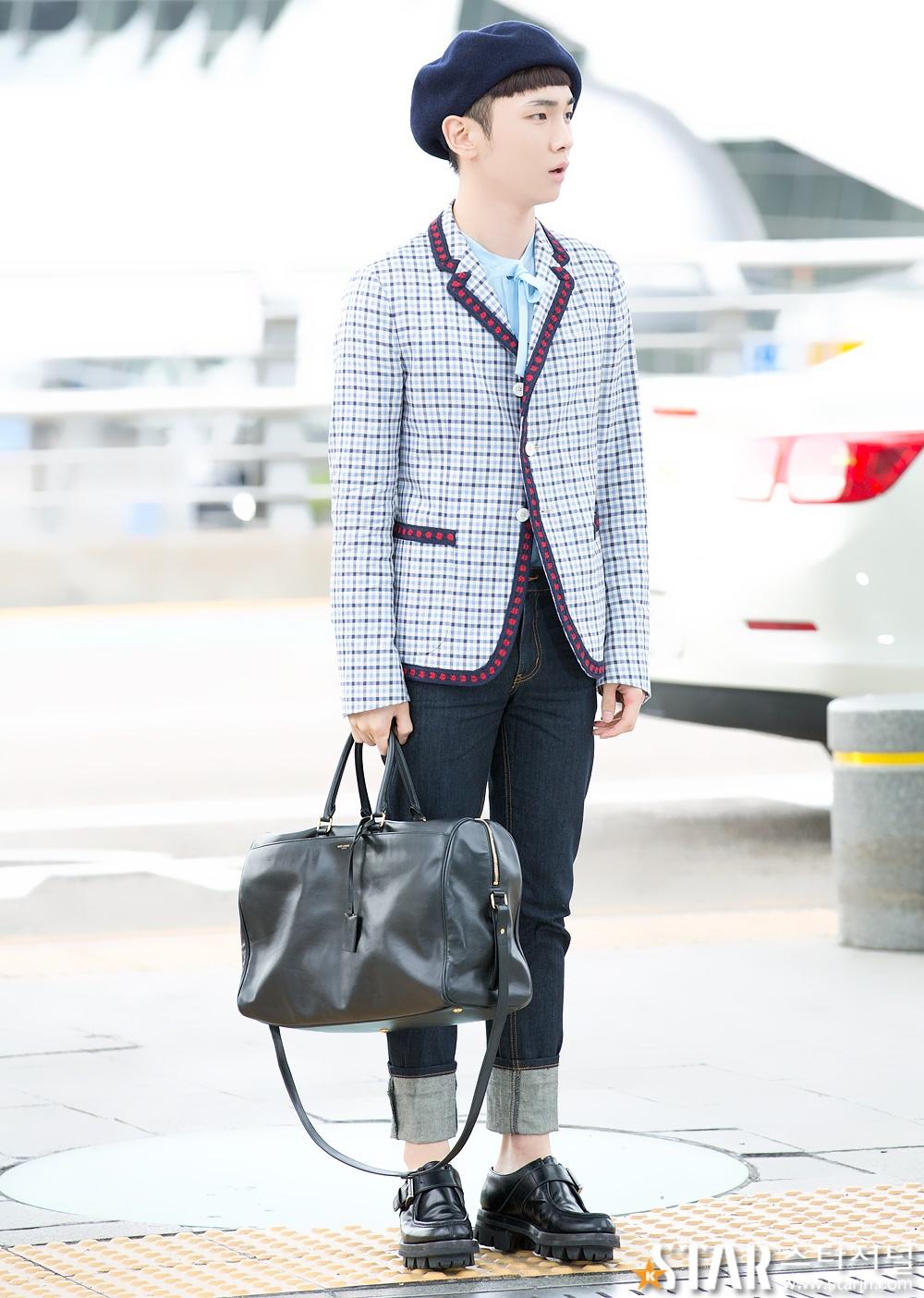 [IMG/160715] Jonghyun, Key @ Aeropuerto Incheon hacia Japón. JJRU9yRI