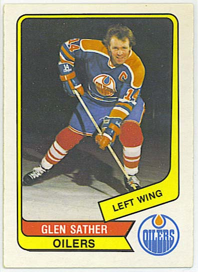 Glen Sather - 1976-77 OPC WHA