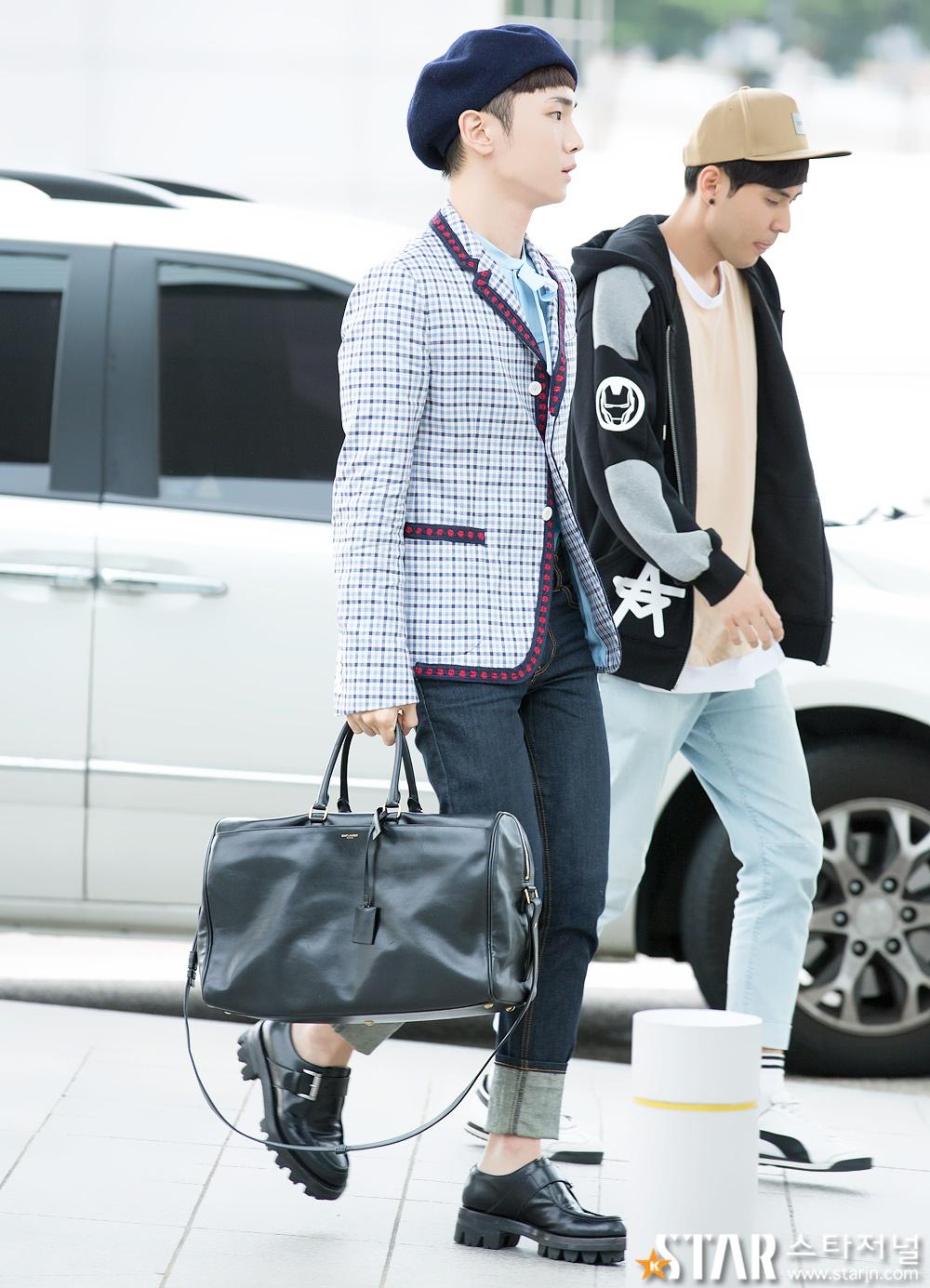 [IMG/160715] Jonghyun, Key @ Aeropuerto Incheon hacia Japón. MWbgIsWl