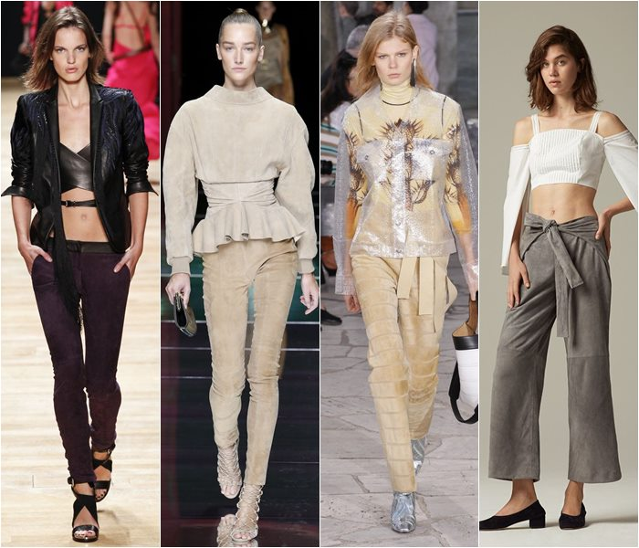 Suede pants spring/summer 2016