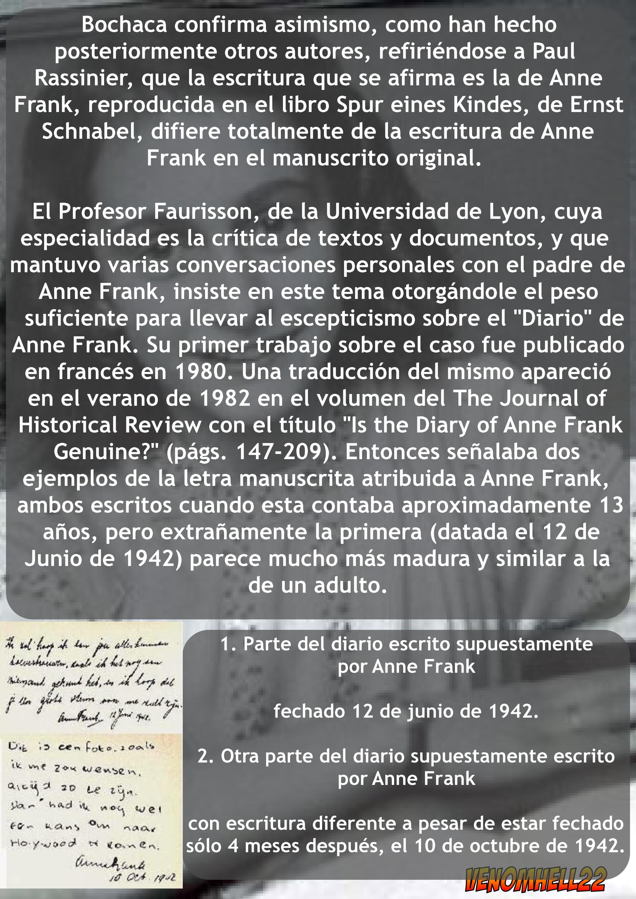 La estafa de Ana Frank