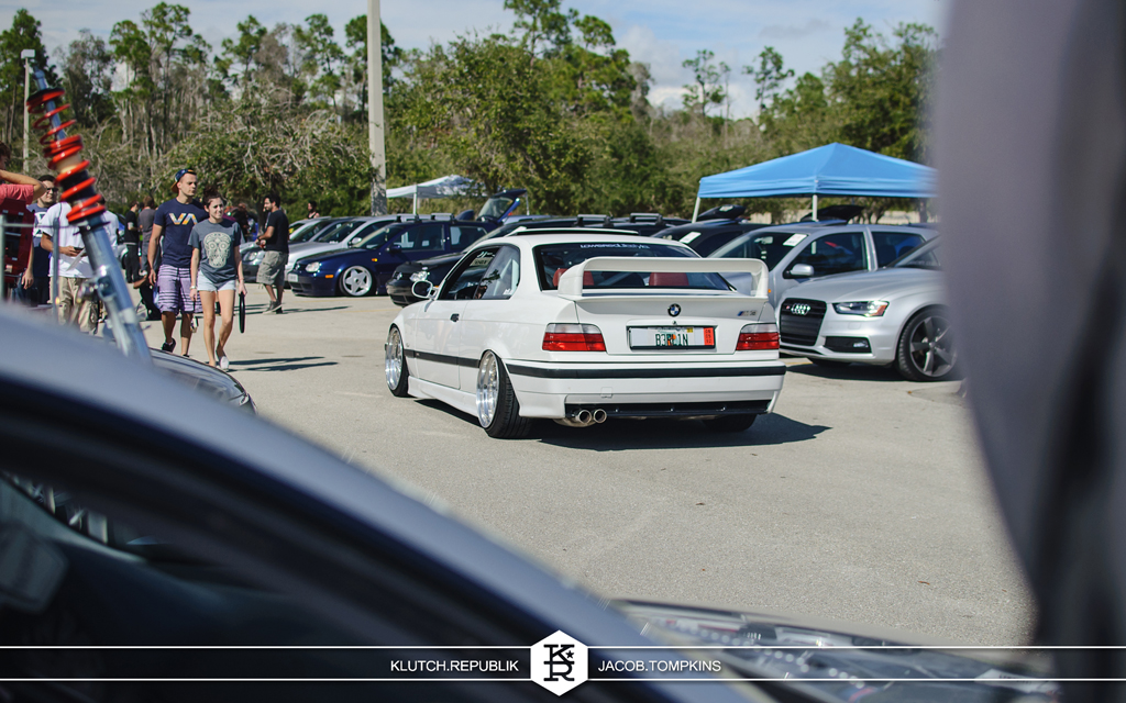 white bmw e36 m3 slammed stanced