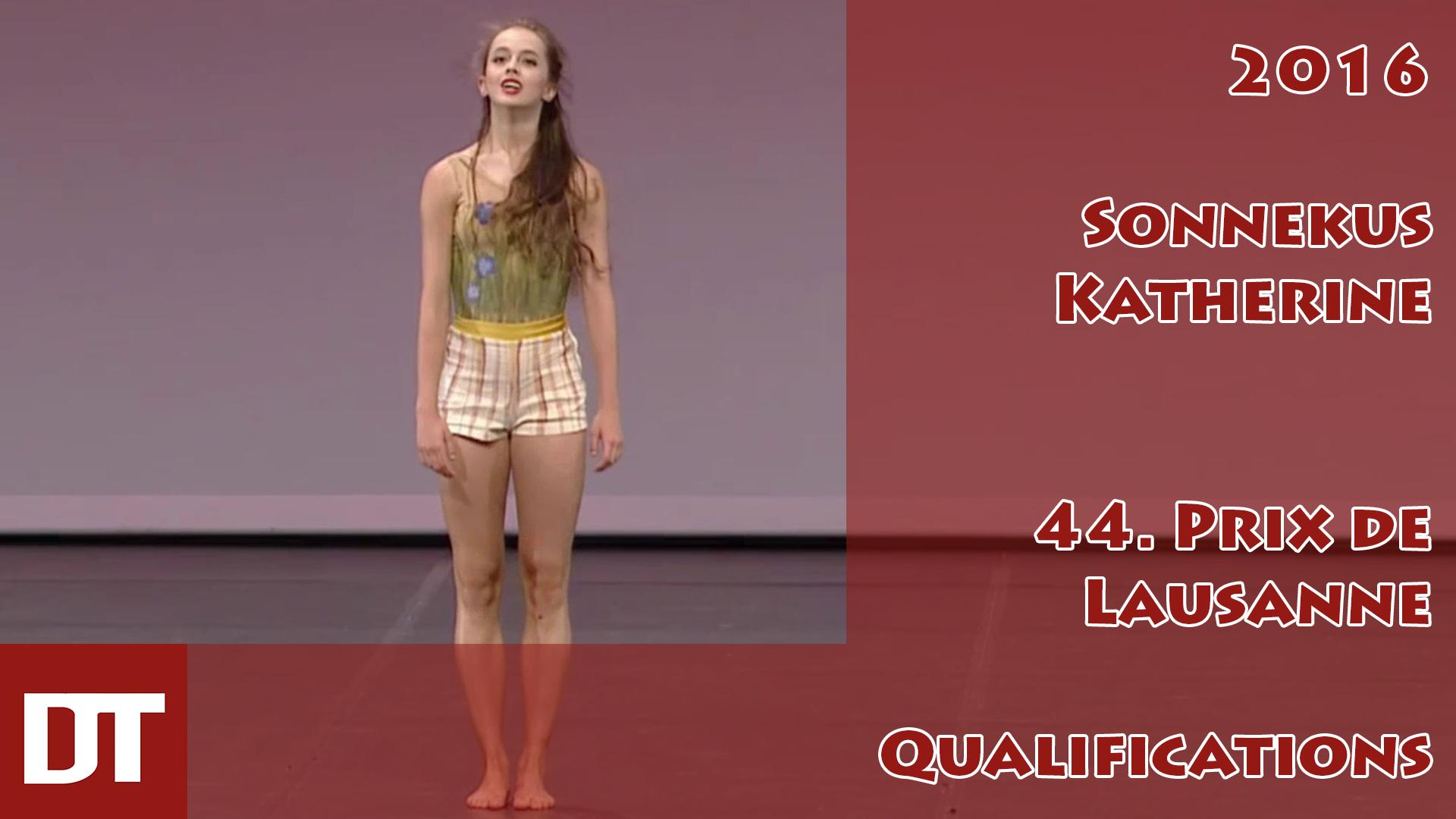 2016 – Sonnekus Katherine – 44. Prix de Lausanne – Qualifications