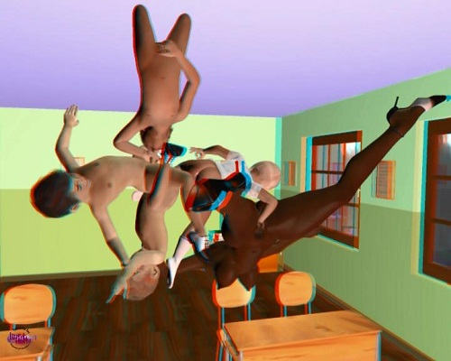 (3d video) dream in class(anaglyph)