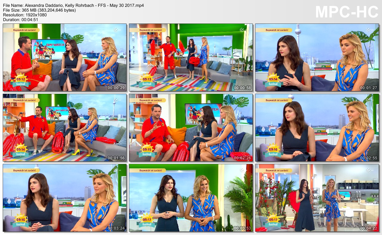 Alexandra Daddario, Kelly Rohrbach - FFS - 30.5.2017 (German TV)