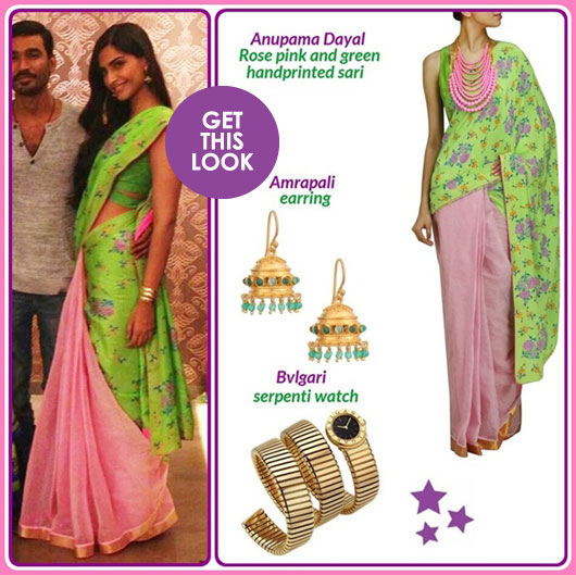 Sonam Kapoor in Anupama Dayal with Dhanush Abl8ckLk