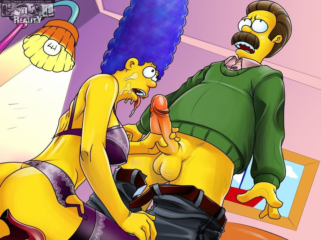 Marge Simpson chupa polla la a Ned