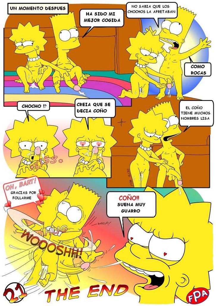 Historieta de incesto porno con la familia Simpson