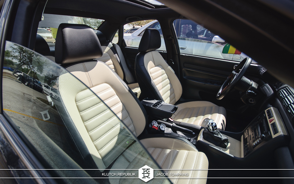 passat interior two tone beige