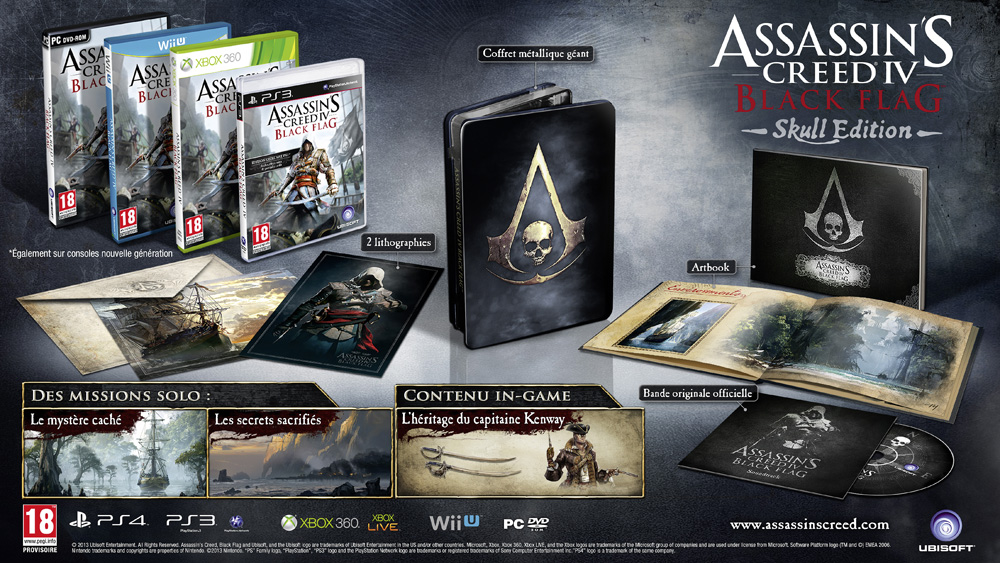 [PS3/PS4/Xbox 360/PC/Wii U] Assassin's Creed 4 Black Flag AbrpUSWT