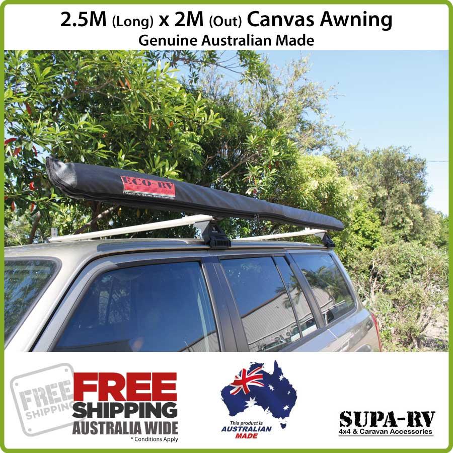 2.5m x 2m SUPA-PEG ECO-RV 4X4 VEHICLE AWNING (4WD, CAR ...