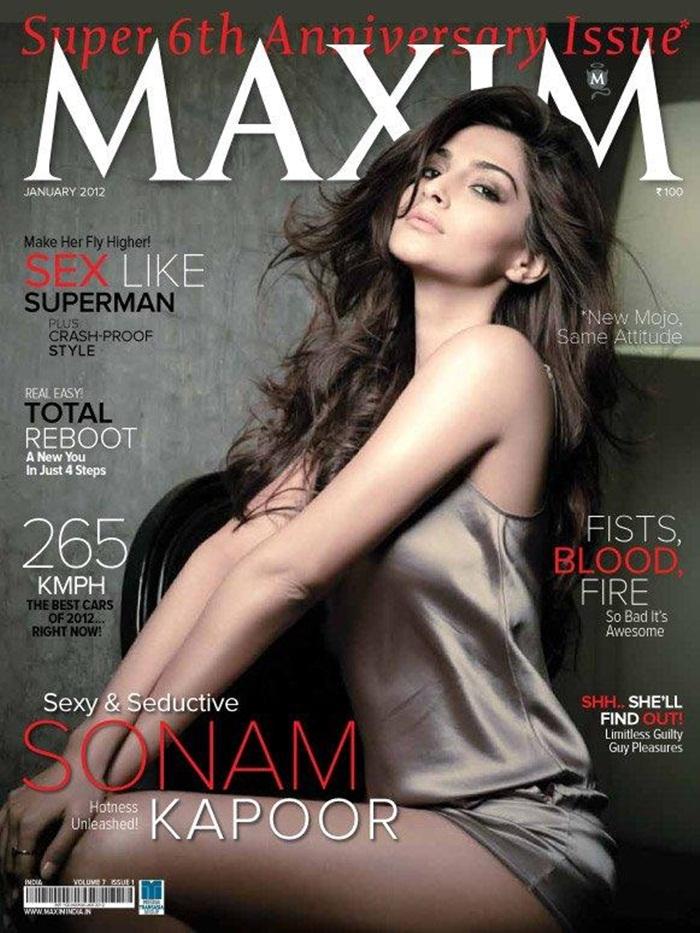Sonam Kapoor in Maxim India Magazine AdyS08vr