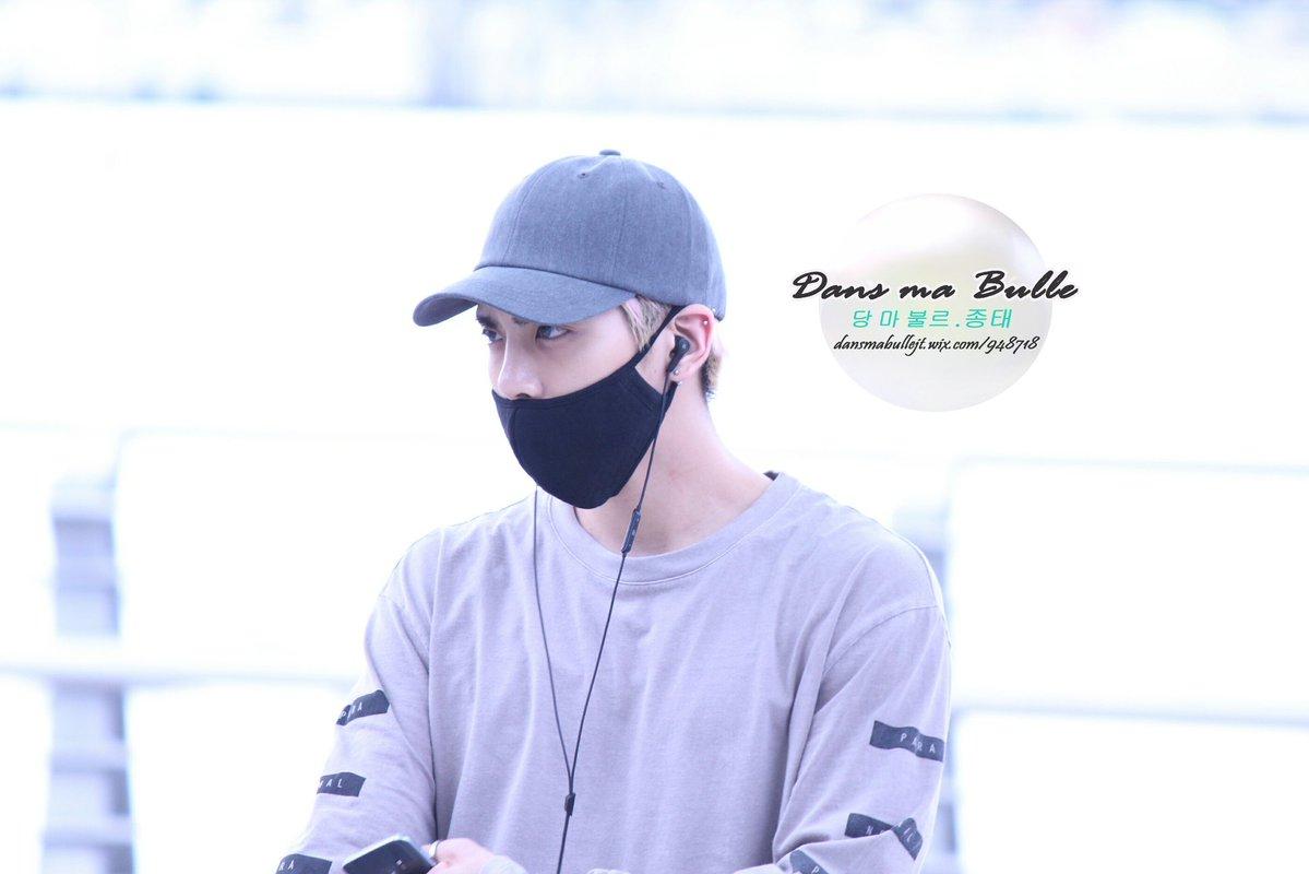 [IMG/160715] Jonghyun, Key @ Aeropuerto Incheon hacia Japón. V0Wt5yzn