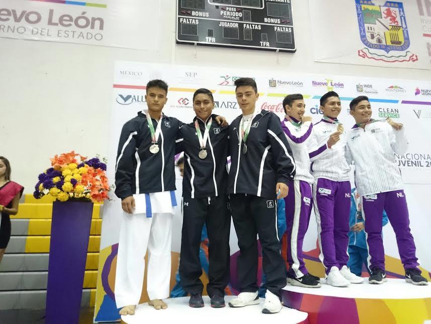 Obtiene la CDMX siete medallas en el karate de la Olimpiada Nacional 20