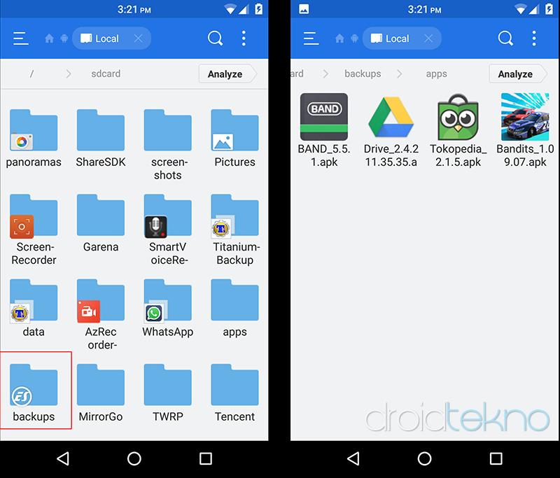 Cara Mudah Backup APK via PC atau Android_esfile-lokasi