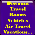 Discount Travel: Rooms, Vehicles, Air Travel, Vacations, and more