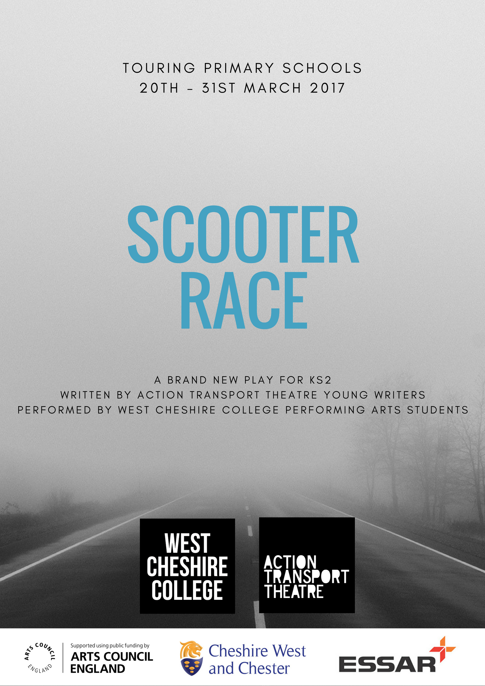 Scooter Race Poster
