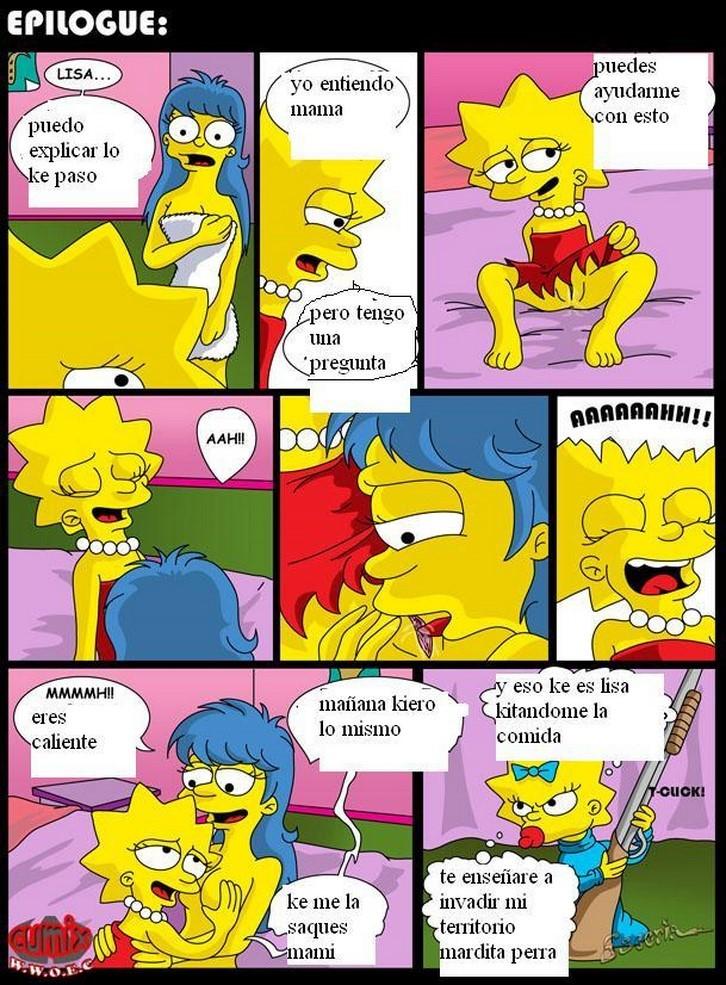 Porno comic de incesto con Marge Simpson y Maggie