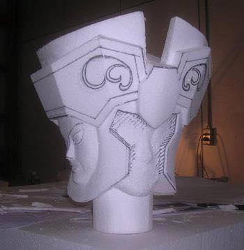 Processo de criação da Armadura de Gemeos para a exibição de Pachinko 8Li9OwGs