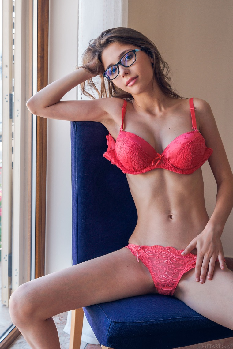 Sexy big boob brunette teasing