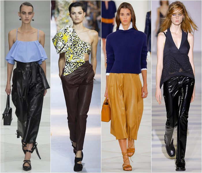 Leather pants spring/summer 2016