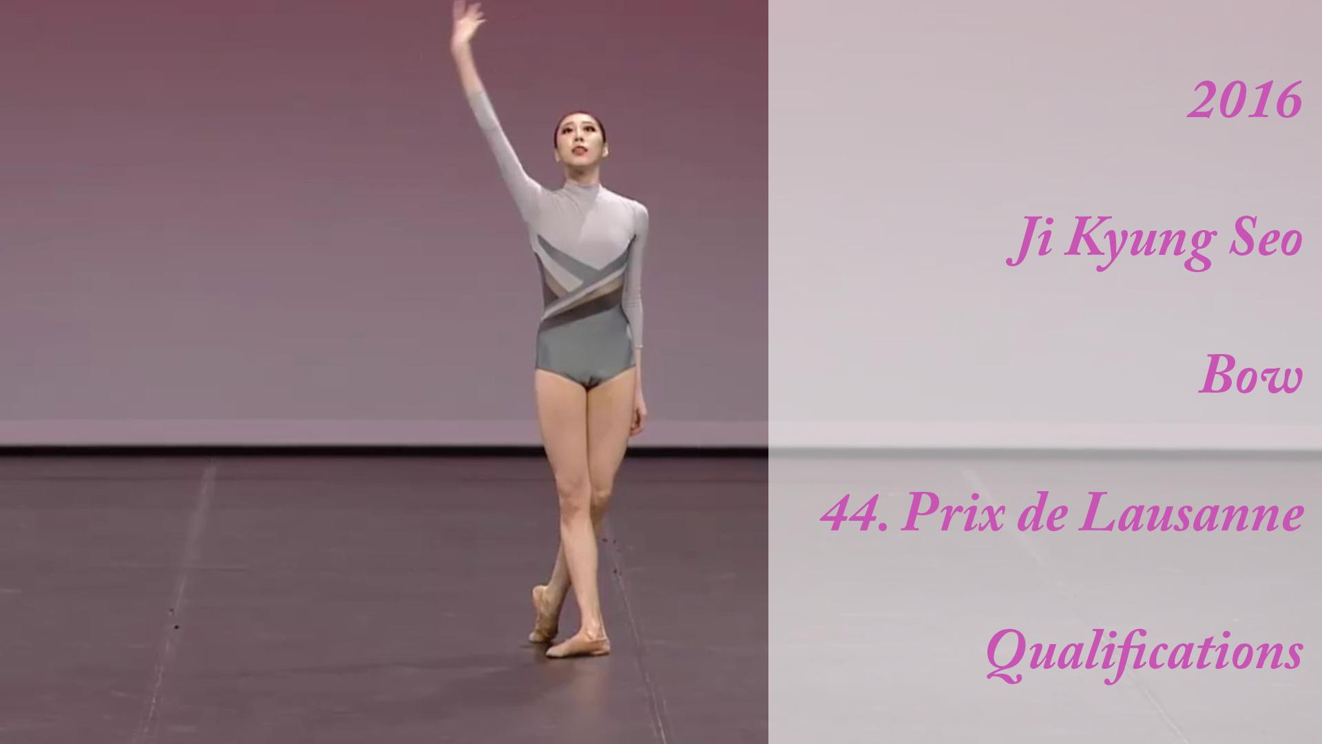 2016 – Ji Kyung Seo – Bow – 44. Prix de Lausanne – Qualifications
