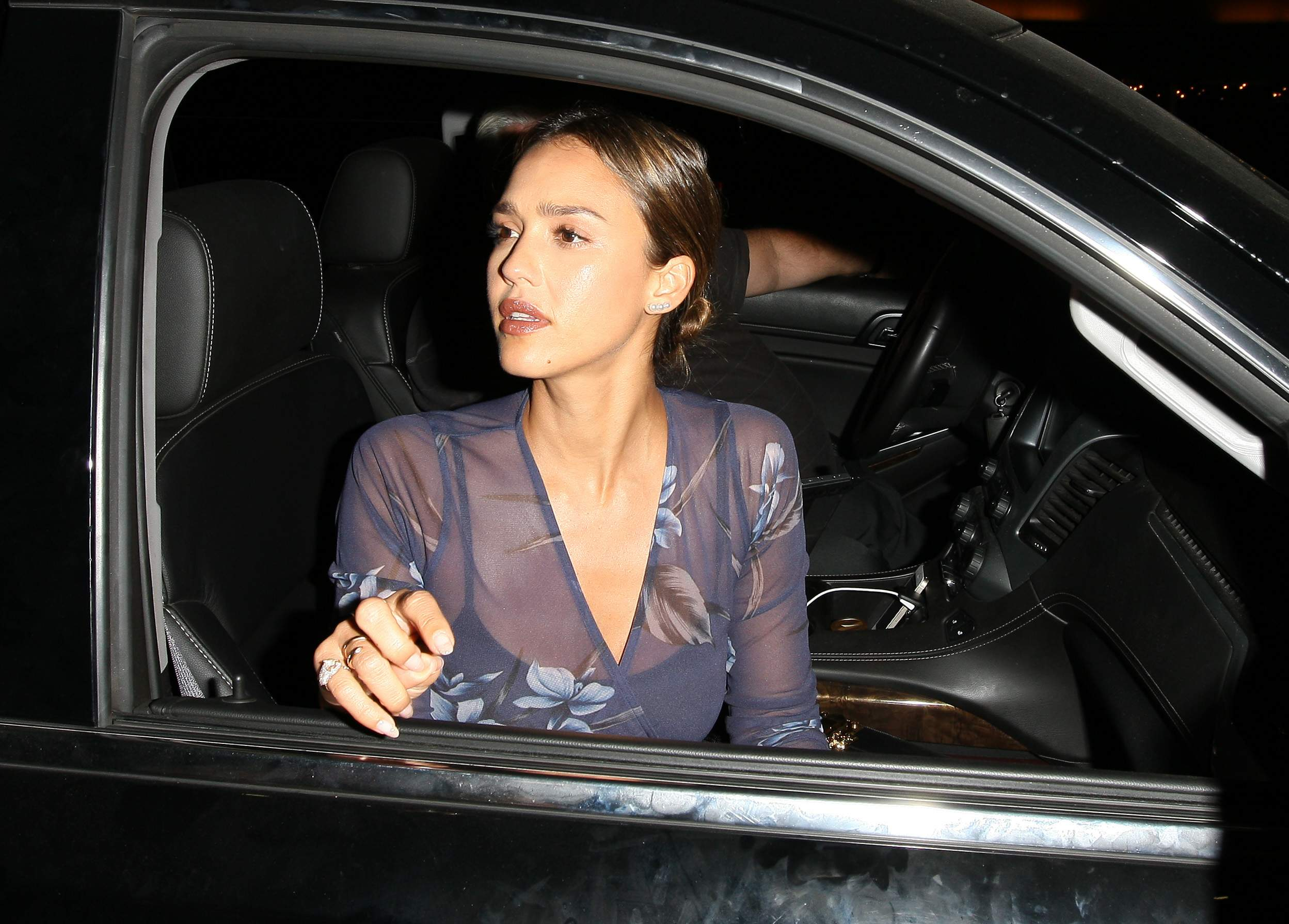 Jessica Alba Leaving The Nice Guy Club in West Hollywood 07/30/2016