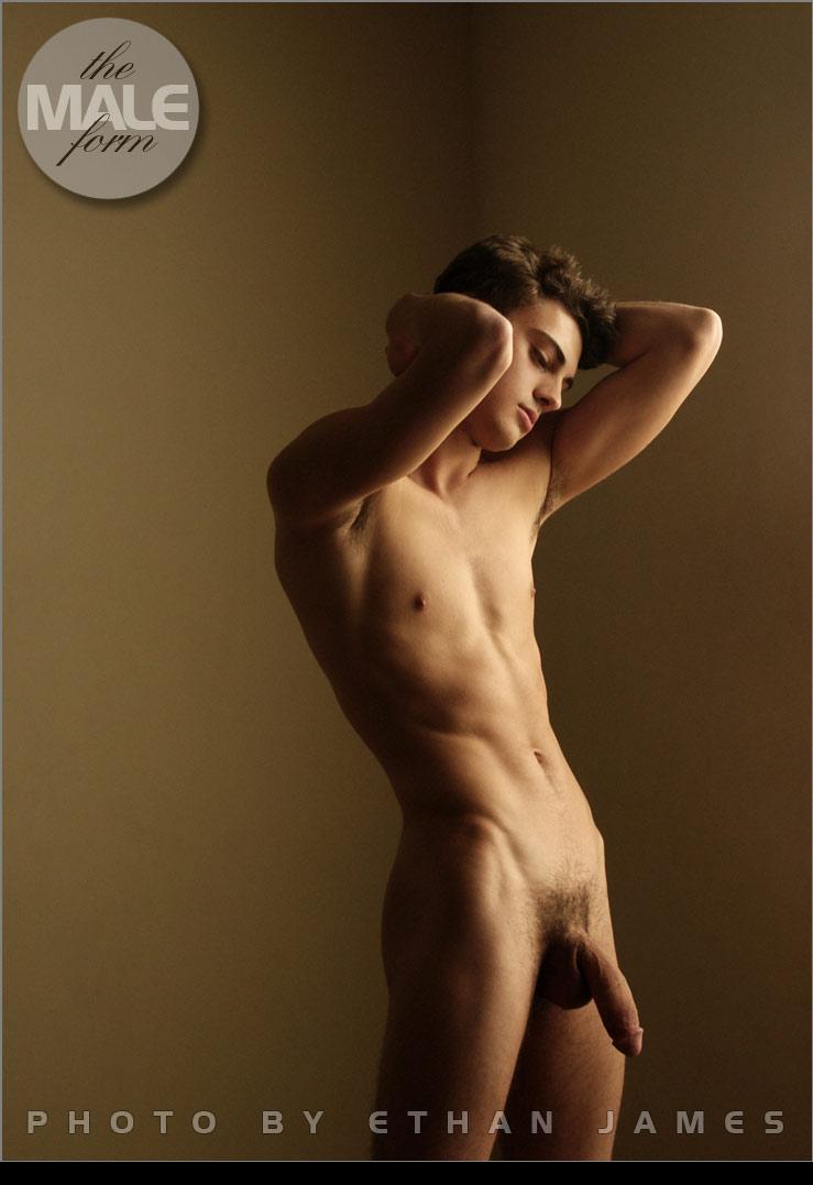 Худой парень голый