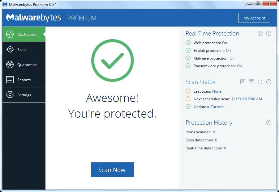 Malwarebytes Premium 3.0.4.1269 Multilingual + License Key [MG UB 1F+]