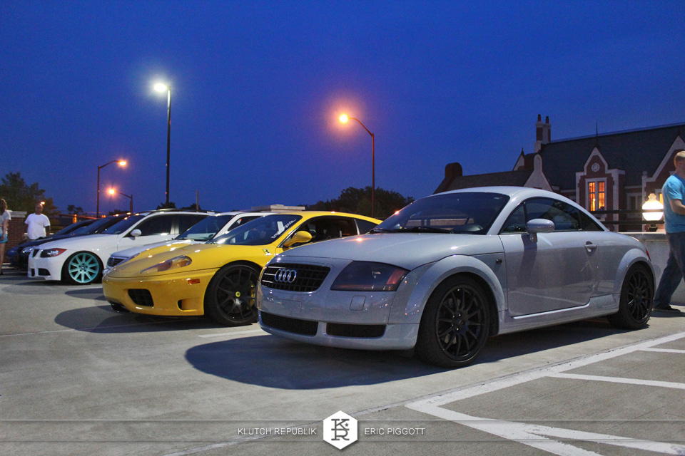 yellow ferarri 360 nimbus grey audi tt