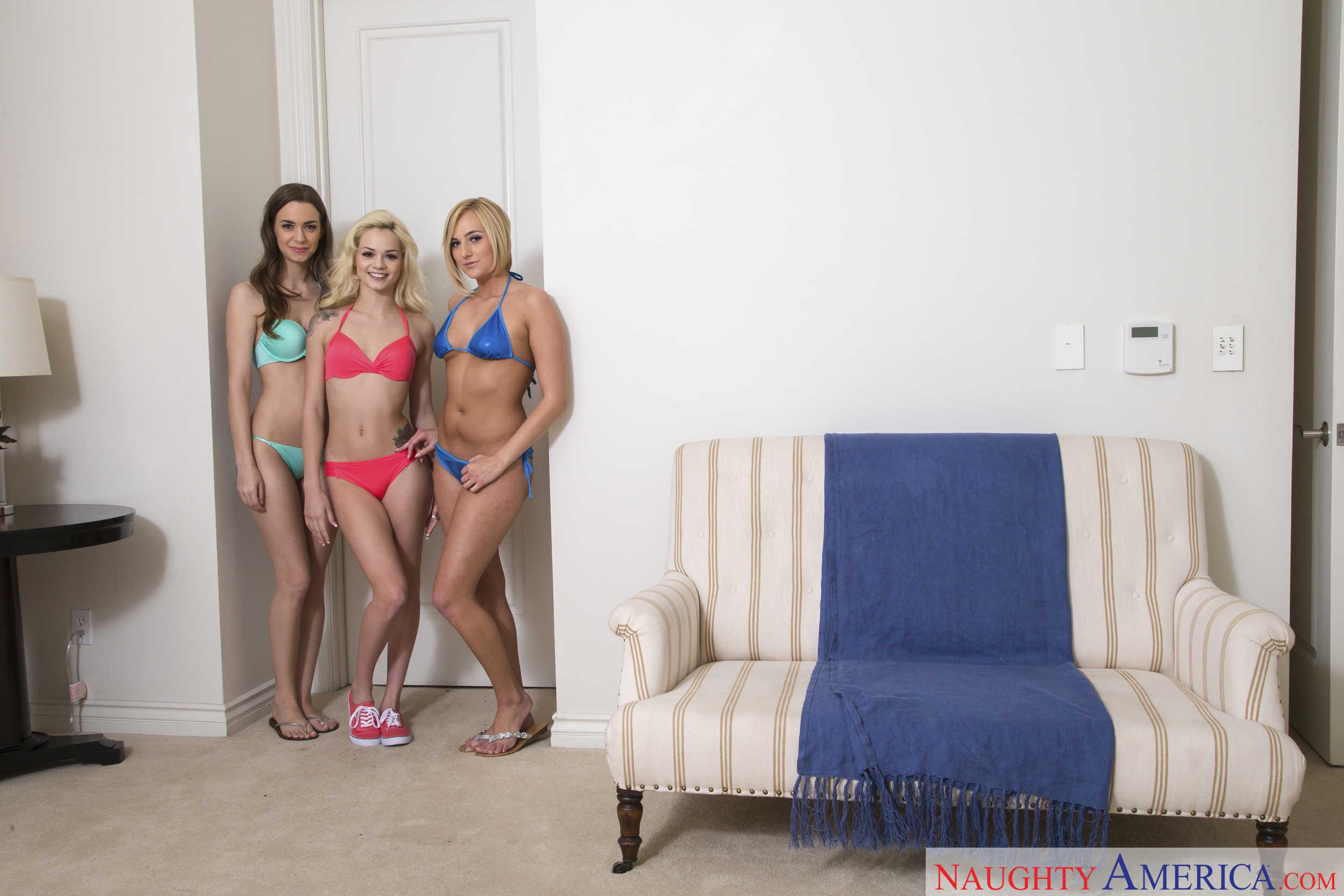 Elsa Jean, Kate England y Tali Dova comparten una verga