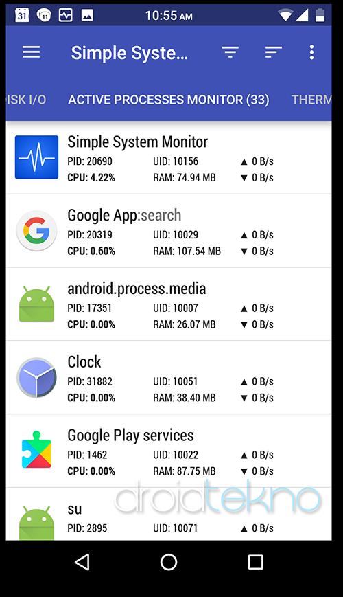 Ketahui Kondisi Suhu Baterai, CPU, GPU android_proses