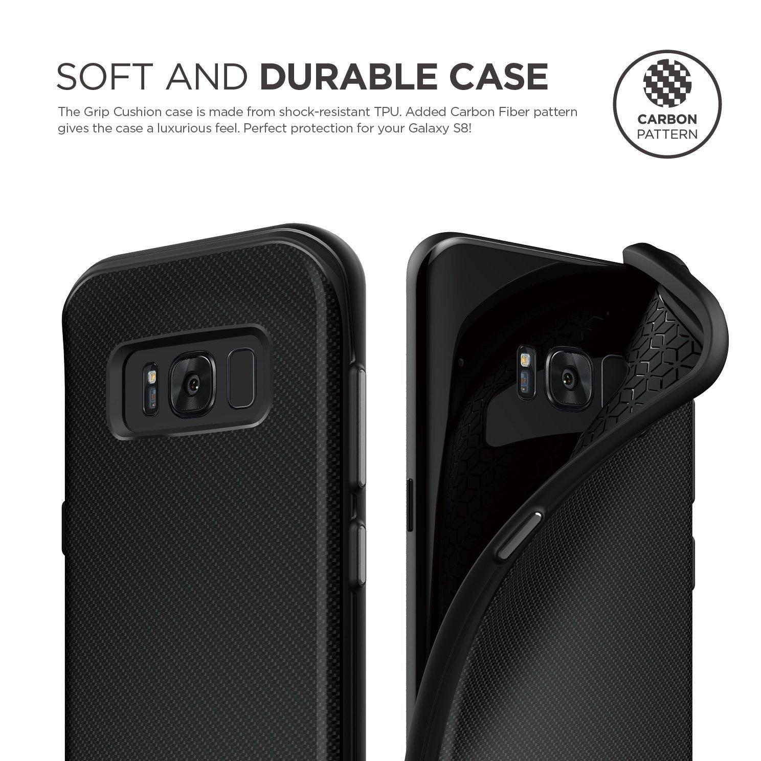 on sale 91103 84b8e Grip Cushion Case for Galaxy S8 Plus - Black « Back
