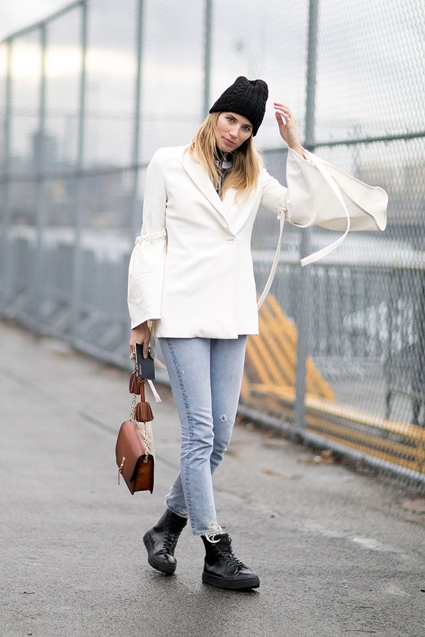 skinny jeans street style 2016-2017 pic 20