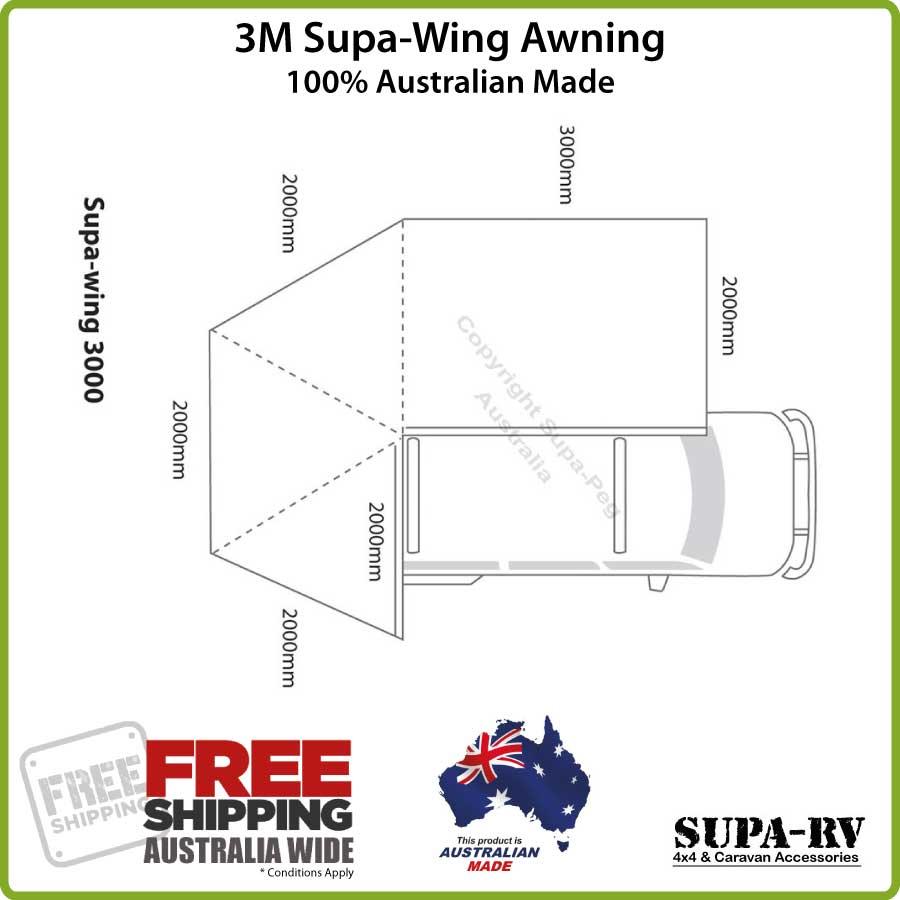 3M SUPA-PEG SUPA WING 4X4 VEHICLE BAT WING AWNING | eBay