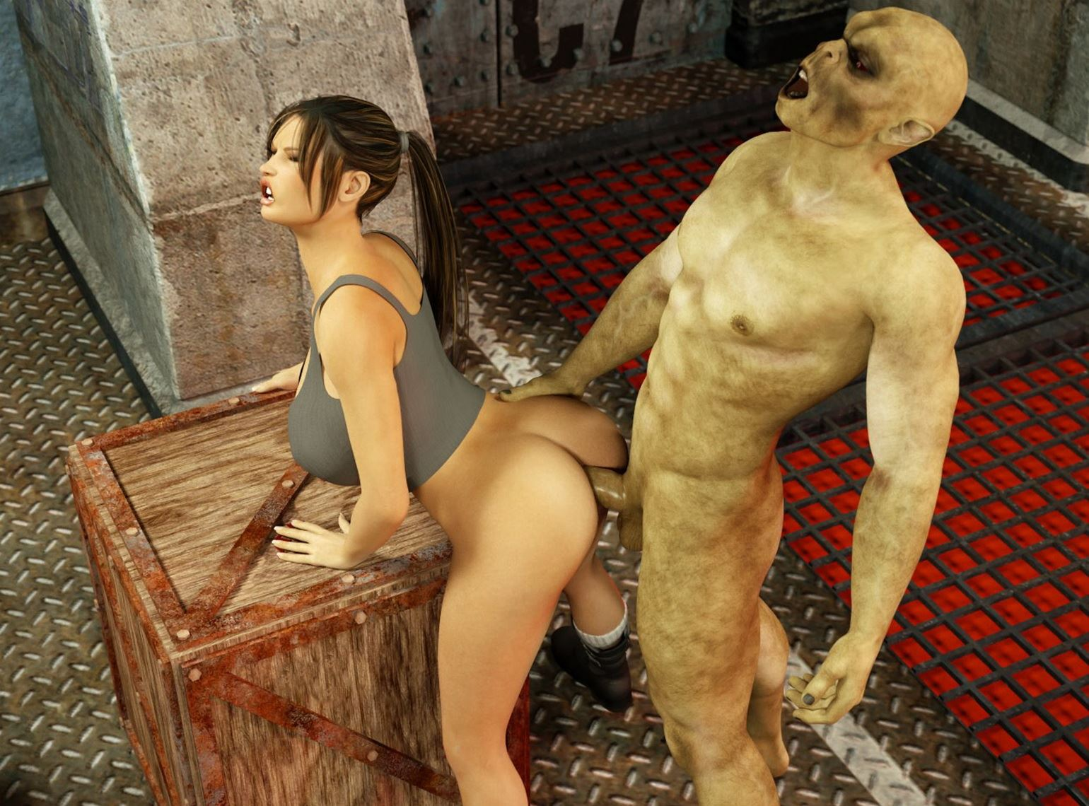 Monster sex lara croft sexy thumbs