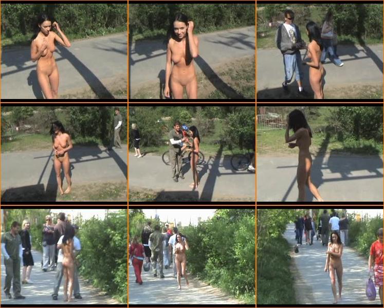Wife walks around house nude