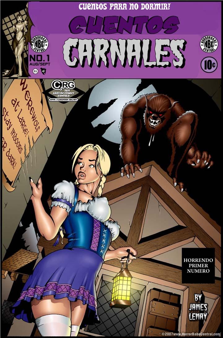 CUENTOS CARNALES, cómic porno terror. Página 01.