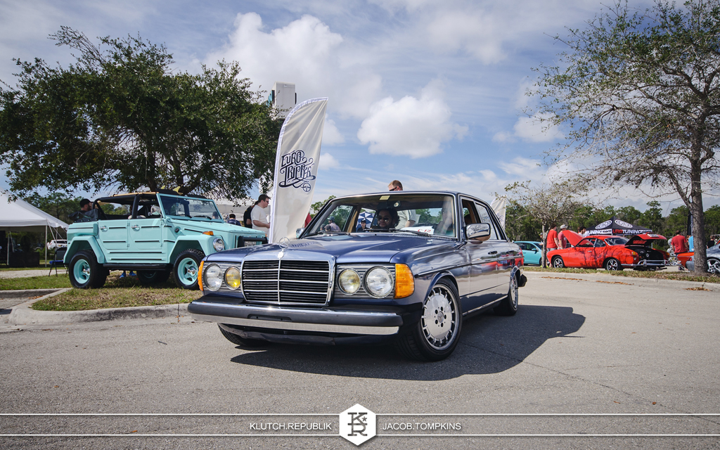 classic mercedes benz slammed stanced
