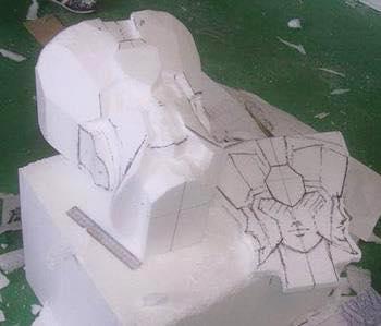 Processo de criação da Armadura de Gemeos para a exibição de Pachinko IuL8SdD7