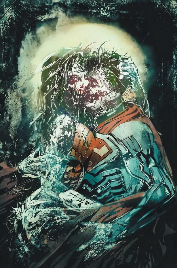 Terror clásico y tecnológico en Superman / Wonder Woman nº12 por Bill Sienkiewicz