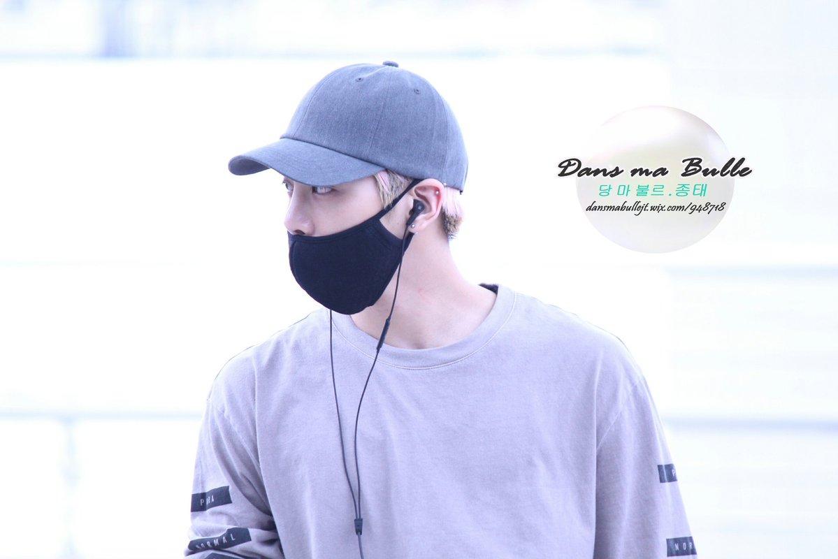 [IMG/160715] Jonghyun, Key @ Aeropuerto Incheon hacia Japón. XMBoCZoV