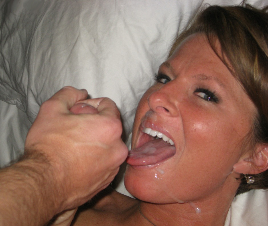 Ameture mature unexpected cum in mouth
