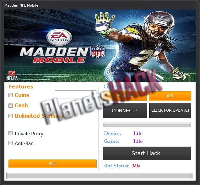 Madden NFL Mobile Hack Tool - PlanetsHack - Home