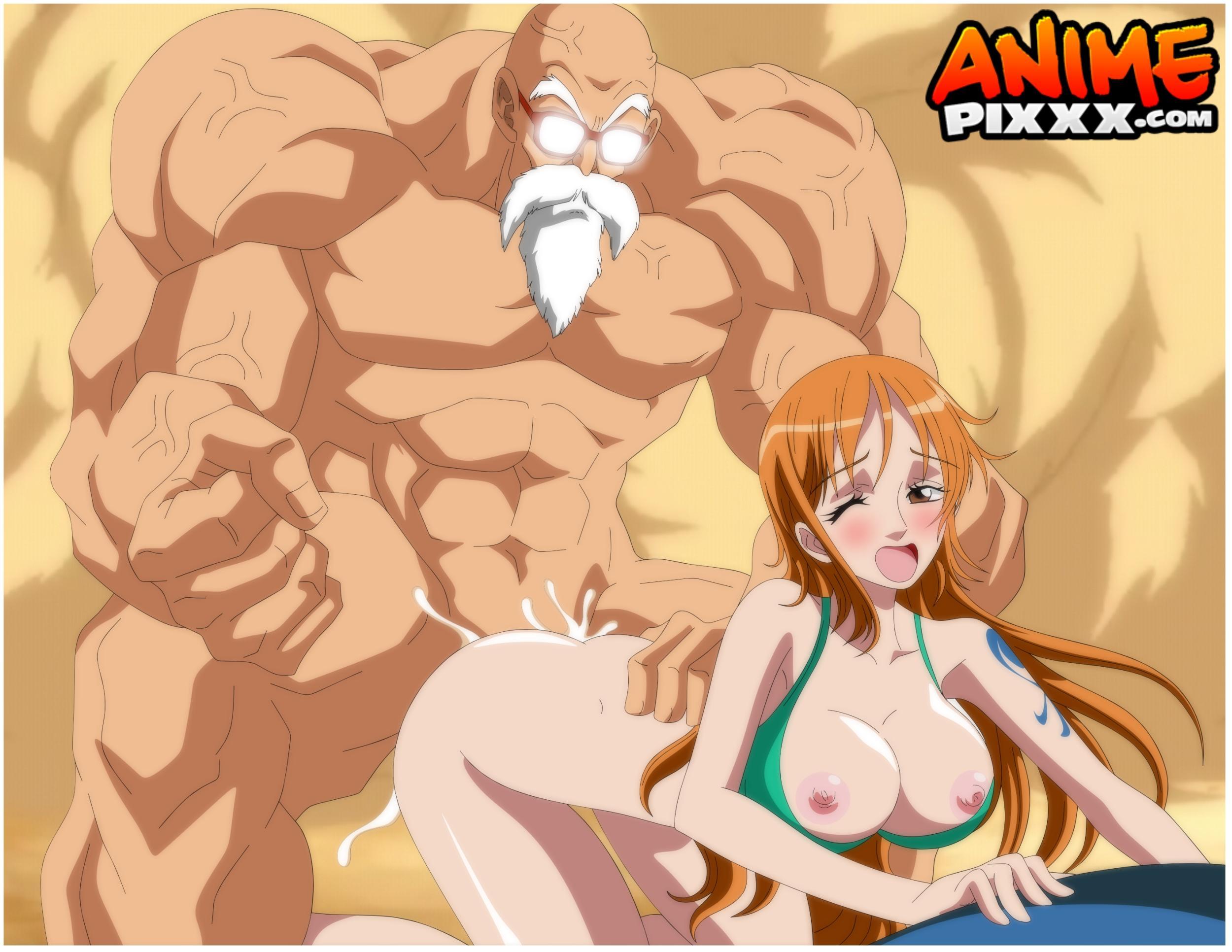 sexo del Kame Sennin con Nico Robin