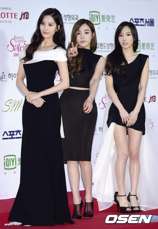"[150122] Girls' Generation - TTS — Alfombra Roja de ""24° Premios de Música de Seúl"" 7Ab3rNcR"